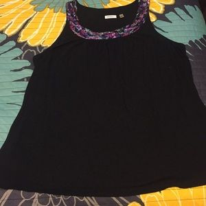 Black Blouse with Sequin Detail